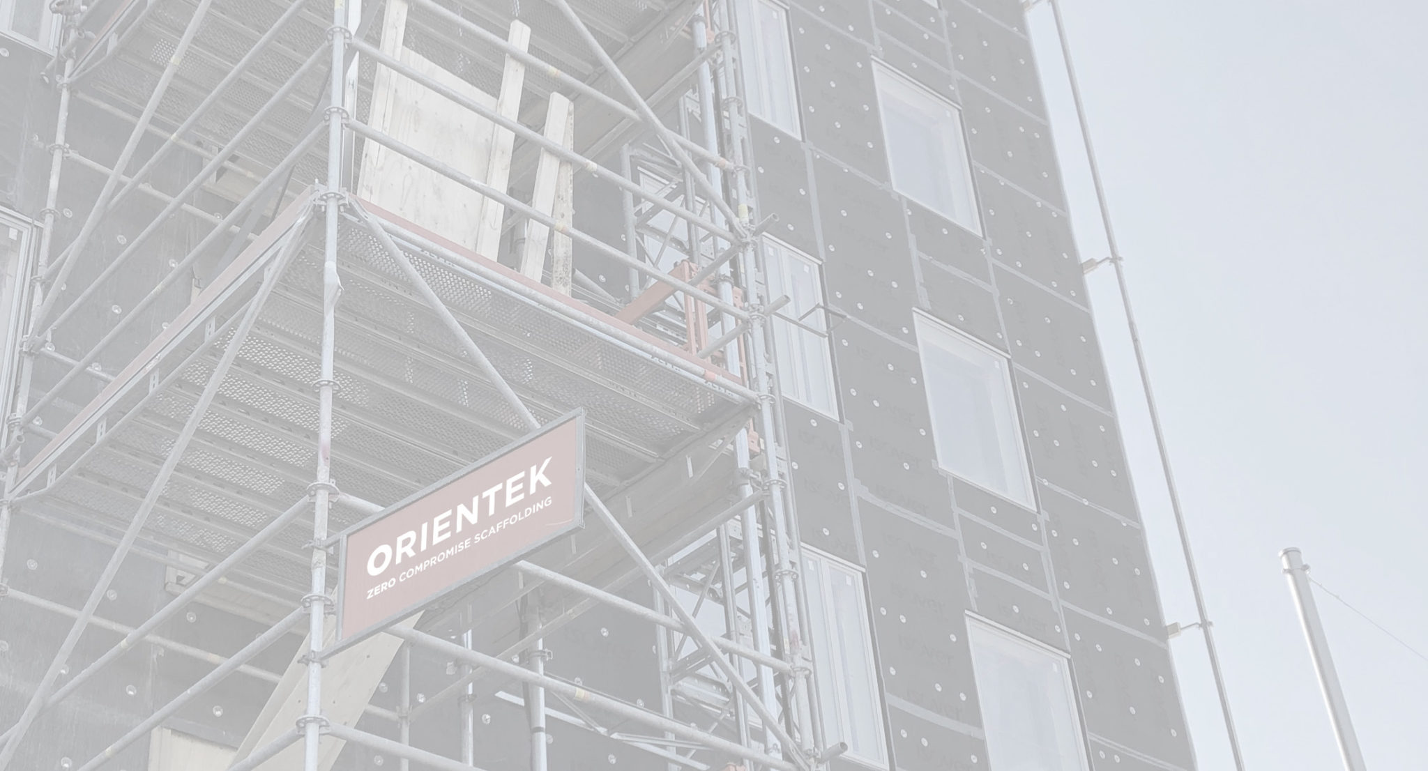 Orientek zero compromise Scaffolding frames on commercial construction