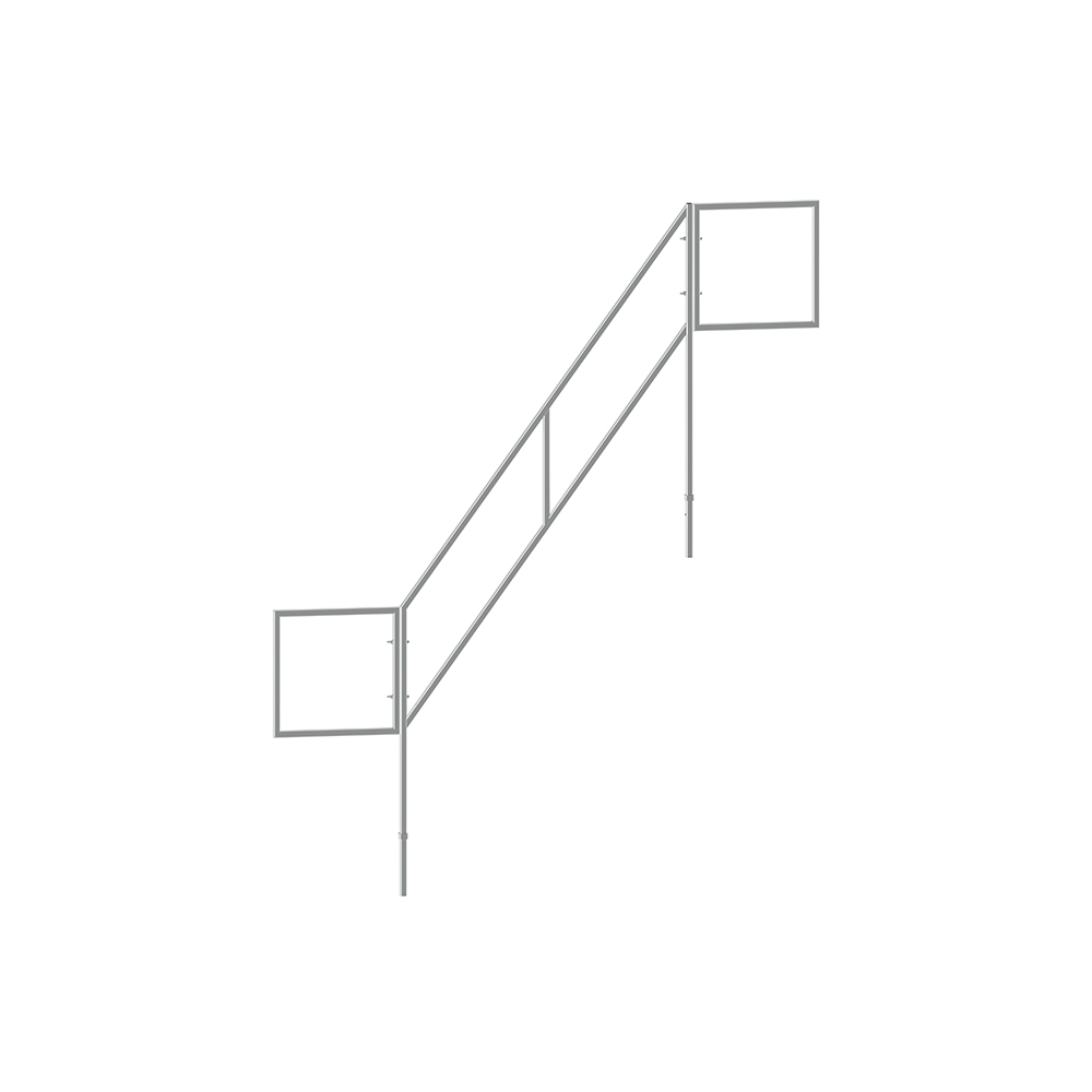 FSW6084AL-A scaffolding access systems aluminum stairways outer handrail